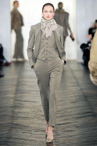Ralph Lauren 3-piece suit for women | shePower | Women in Suits