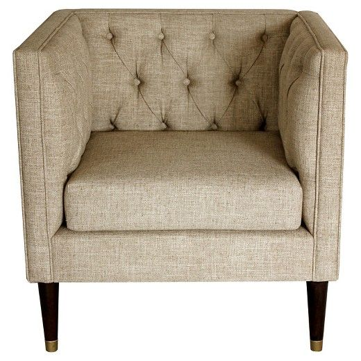 Tufted arm chair Nate Berkus
