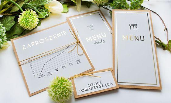 Zlote Zaproszenia Urodzinowe Blog U Nas Znajdziesz Piekne Zaproszenia Na Slub I Wesele Chrzest I Komuni Place Card Holders Wedding Inspiration Place Cards