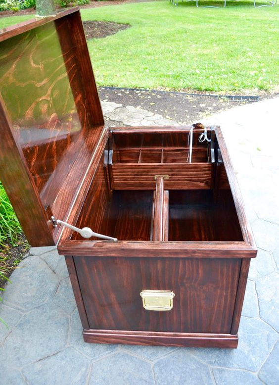 Large luxury equine tack trunk trunks luxury and tack for Tack shed plans
