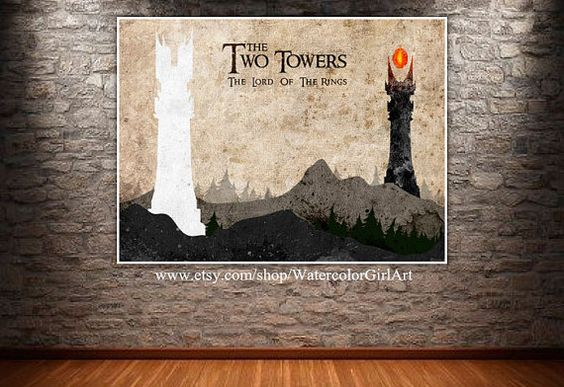 The Two Towers poster Lord of the Rings poster. by SeasonsSpace