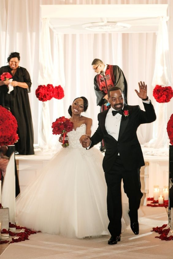 Fabulous Red Black and White Wedding by Nadia D Photography: