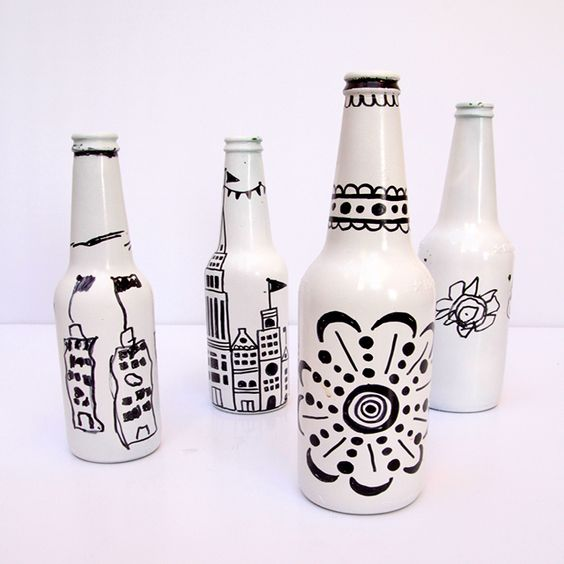 Fun, creative bottles using sharpie!