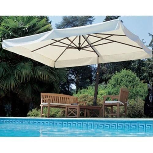 The Fim P19 Is A Very Sturdy Cantilevered Umbrella Frame Is A Top Pick For Commercial Patios A Patio Umbrella Large Patio Umbrellas Rectangular Patio Umbrella
