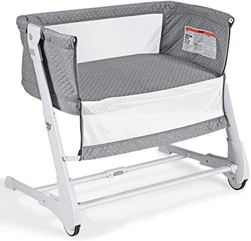 Amazing Offer On Baby Joy Baby Bedside Crib 2 1 Height Angle