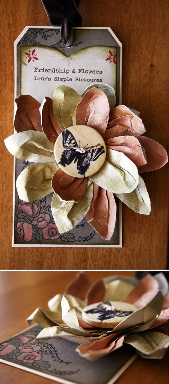 "Cosmo Cricket: ""Split Leaf"" (paper) and ""Ruffled Leaf"" (fabric) Flowers tutorials"
