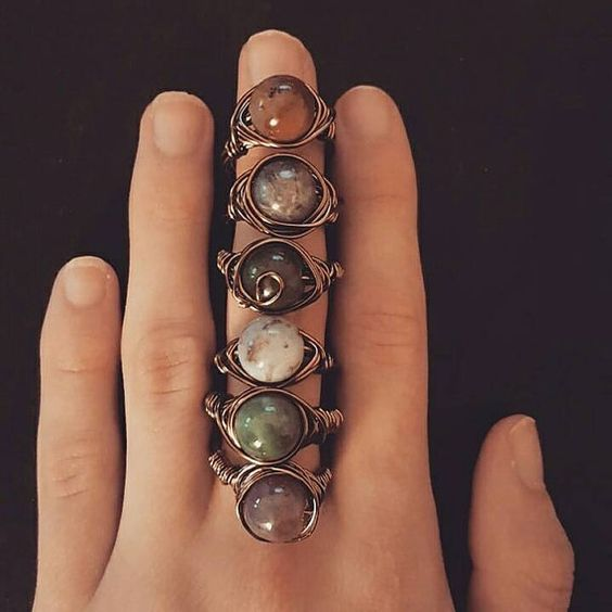 Handmade antique rings by MyLittleEarthlings on Etsy