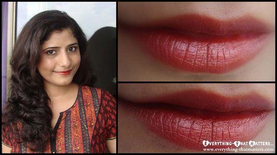 "30 Days Lipstick Challenge: Day 9: Colorbar Velvet Matte Lipstick ""Love That Rust"""