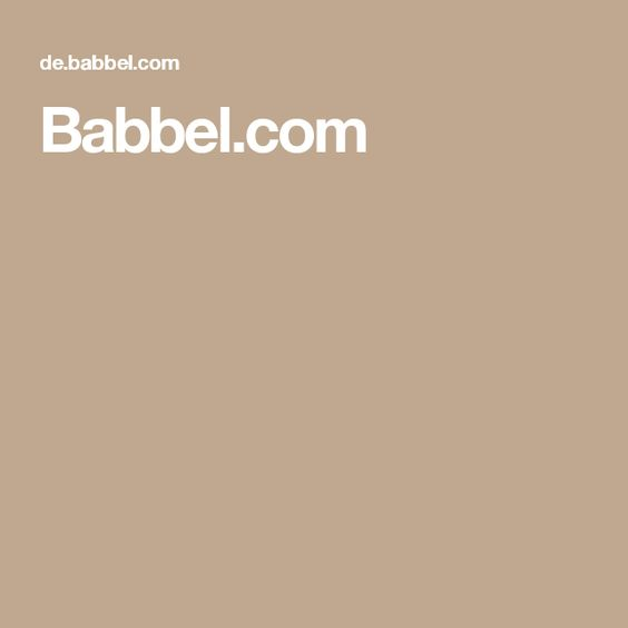 Babbel Com Englisch Lernen Lernen Sprache