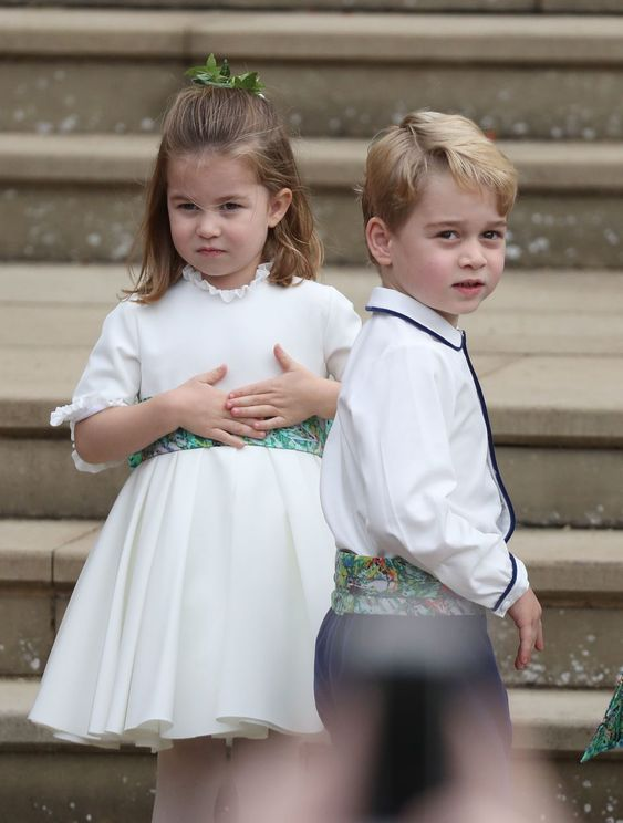 Prince George and Princess Charlotte looked adorable at Princess Eugenie and Jack Brooksbank's wedding