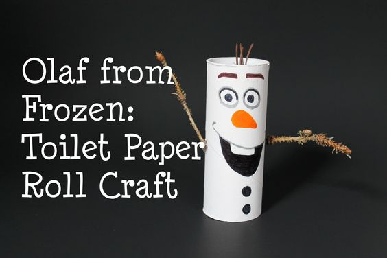 Olaf from Frozen! DIY Toilet Paper Roll Craft