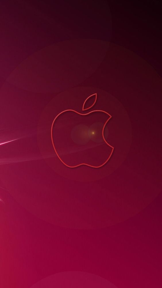 red apple logo iphone wallpaper - Bing images