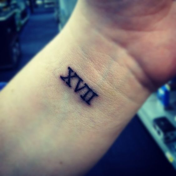 3 16 roman numeral tattoo with this kind of number font for Number 3 tattoo
