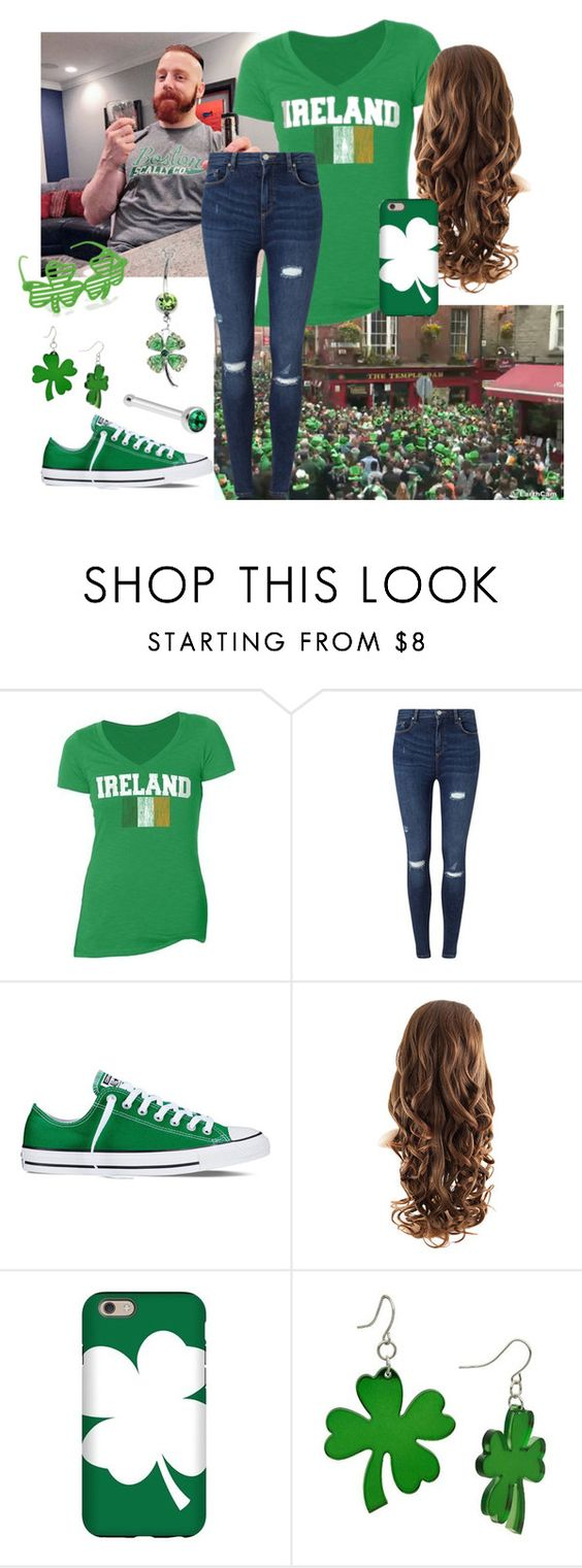 """In Dublin For St. Patrick's Day!"" by thevaudevillainess ❤ liked on Polyvore featuring Miss Selfridge, Converse, CO and country"