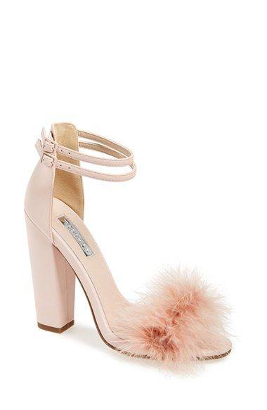 Women&39s Topshop &39Rebecca&39 Ankle Strap Sandal 4 1/2&quot heel