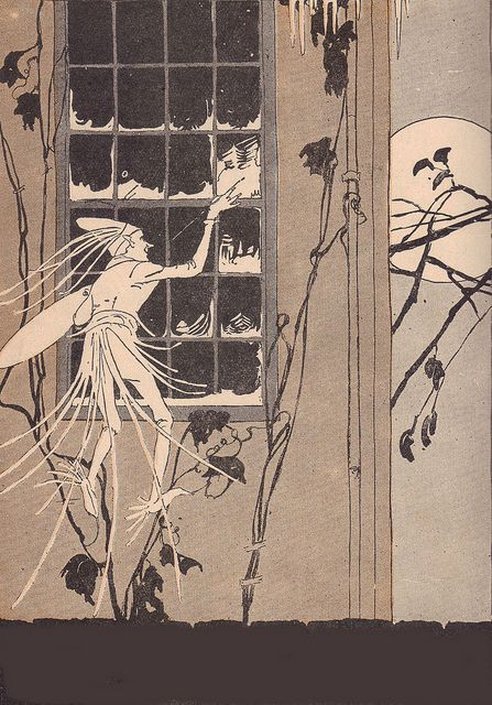 "The Fairy Artist in ""Story Hour Readers, Book Two"" by Ida Coe and Alice Christie who copyrighted in 1914 and illustrated by Maginel Wright Enright."