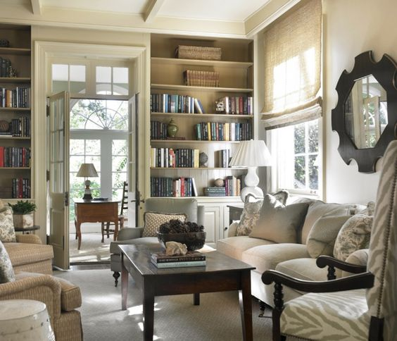 Library Den Atlanta Home Of Interior Designer Peggy: Absolutely Stunning! Muted, But Marvelous. Floor To