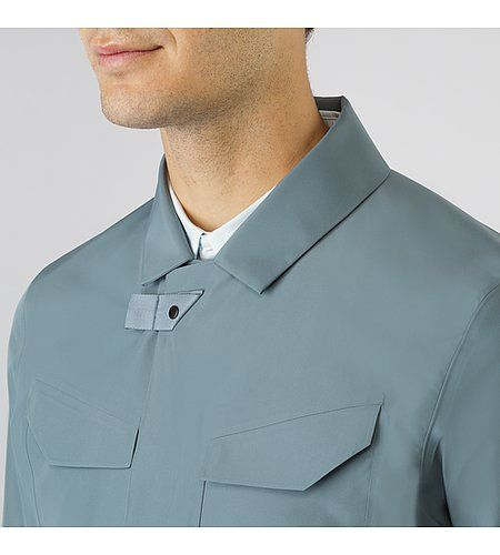 Gabrel Jacket Men's Wind and water resistant collared jacket with composite construction.