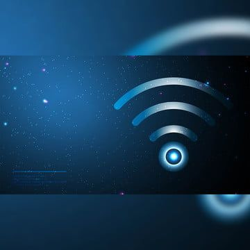 Blue Background With Glowing Dots Bokeh Style Technology Background Blue Backgrounds Blue Background Images Wifi Icon