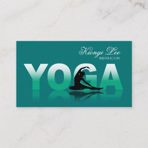 Yoga Reflections Yoga Instructor Yoga Class Business Card Zazzle Com Yoga Instructors Stylish Business Cards Yoga Class