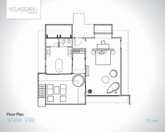 over the water bungalow floor plan - Google Search Cayman Kai - bungalow floor plans