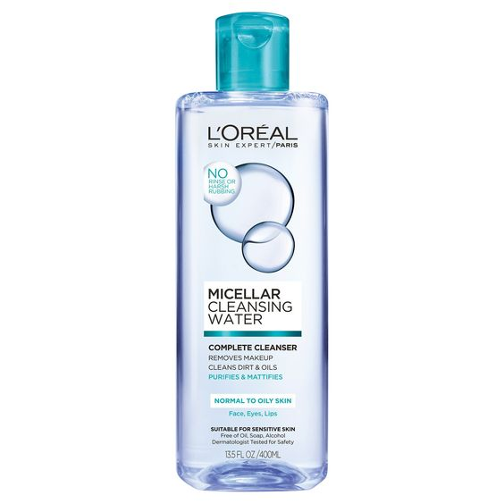 Often times in oily skin, over cleansing and exfoliating to remove excess sebum can strip the skin. L'Oréal Paris Micellar Cleansing Water formulated for Normal to Oily Skin is gentle on skin but removes makeup, dirt and excess oil in one step, leaving skin purified and looking mattified. HOW DOES IT WORK? Powered by tiny micelle molecules in water that cluster together to surround and lift away impurities and makeup with no harsh rubbing. THE RESULT? Excess oil is reduced. Skin ...