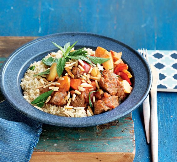 Lamb and vegetable tagine with mint couscous - Packed with lean ...