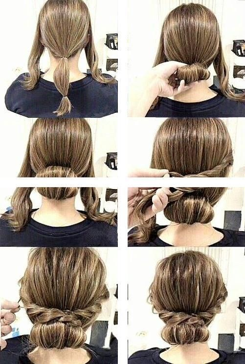 Easy Hairstyles For Long Hair Gorgeous Updos On Trend Updos Easy Hairstyles Long Hair Styles Easy Work Hairstyles