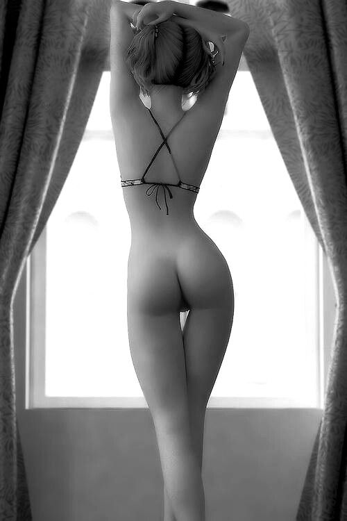 #artistic #window #nude #bottom #model