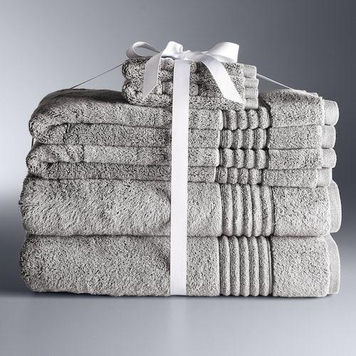 Simply Vera Vera Wang Signature 6 Piece Bath Towel Set Simply