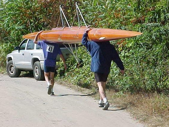 Picking up a rowing shell