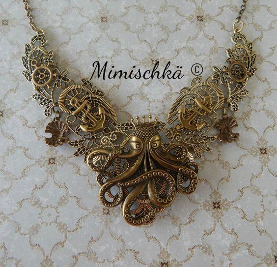 necklace octopus choker by mimischka on Etsy