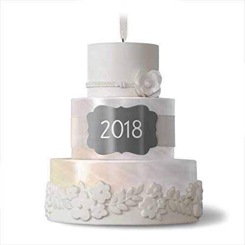 Hallmark Keepsake 2018 Wedding Gift New Life Together Cake Year Dated Porcelain Porcelain Christmas Ornaments Wedding Cake Ornament Hallmark Keepsake Ornaments