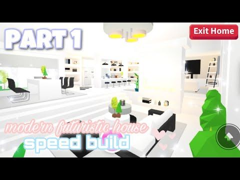 Modern Futuristic House Part 1 Roblox Adopt Me Youtube Futuristic Home My Home Design Cute Room Ideas