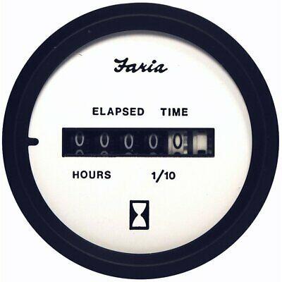Sponsored Ebay Faria Euro White 2 Hourmeter 10 000 Hrs 12 32 Vdc 12913 Digital Gauge Elapsed Time 10 Things