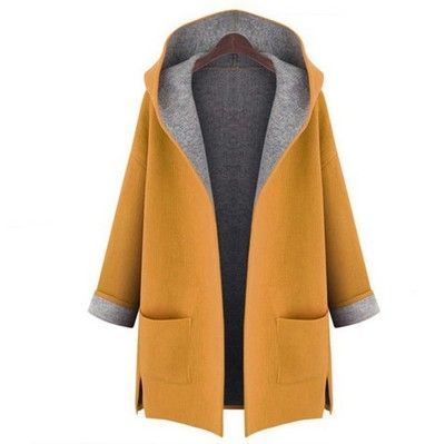 XQS Womens Faux Fur Coat Trench Parka Overcoat Plus Size Warm Thick Jacket Outerwear