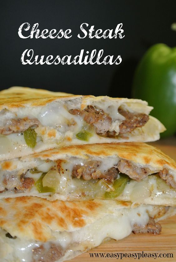 Needing a twist on the classic Quesadilla Try these Cheese Steak Quesadillas to spice up the basic quesadilla!