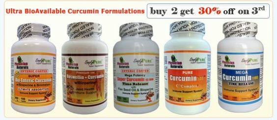 Biggest Holiday Sale!   Save More! -  Curcumin Discount : - Super Bio-Enteric Curcumin - Curcumin + Boswellin - Mega Curcumin 1100 - Mega Potency Super Curcumin