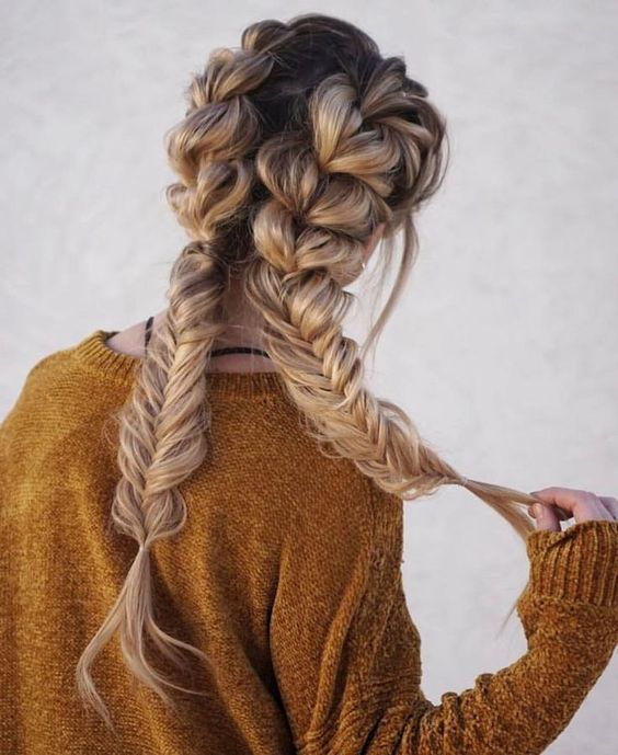 The Alex Sweater In Sand Pretty Cute Hairstyle Idea To Try In 2020 Braids For Long Hair Hair Styles Braided Hairstyles
