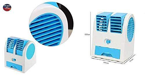 M Tech Air Cooler Portable Desktop Dual Blade Less Fan Air Pack