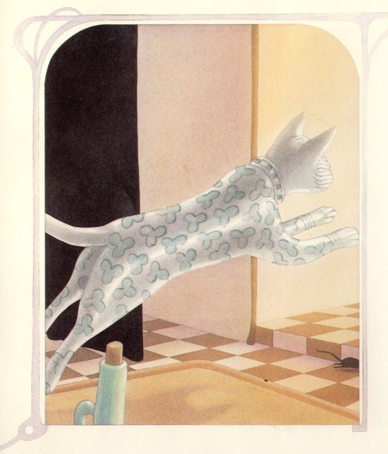 THE PORCELAIN CAT BY LEO AND DIANE DILLON