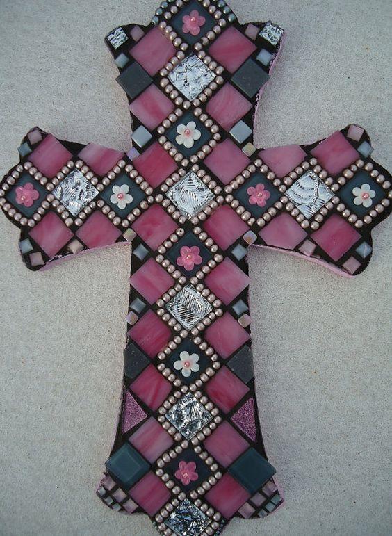 "Mosaic Cross - ""Aubrey"". $225.00, via Etsy."