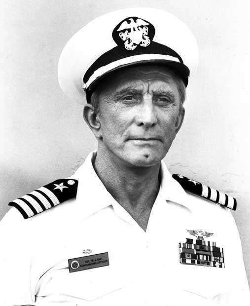 Kirk Douglas went to Notre Dame and was a midshipman during college. He joined the US Navy in 1942 and served as a communications officer with ant-sub operations in the Pacific. He was attacked by a Japanese destroyer and received medical discharge in 1944.