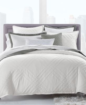 Locked Geo Cotton King Duvet Cover Created For Macy S Macys Com Hotel Collection Luxury Bedding Hotel Collection Bedding