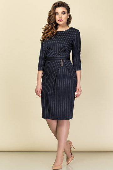 Платье Эледи, темно-синий (модель 2979-1) — Белорусский трикотаж в интернет-магазине «Швейная традиция»