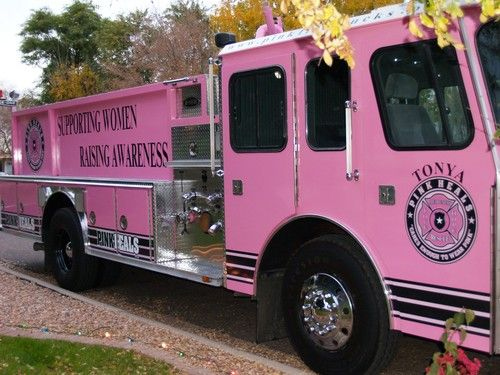 Breast Cancer Awareness Month. 10-1-15. Photo from Pink Heels, Inc./Pink Fire Truck