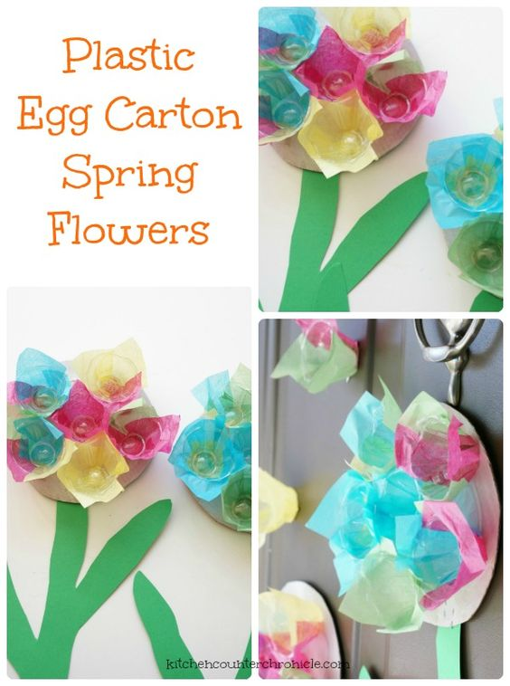 Beautiful the o 39 jays and the rainbow on pinterest for Plastic egg carton crafts