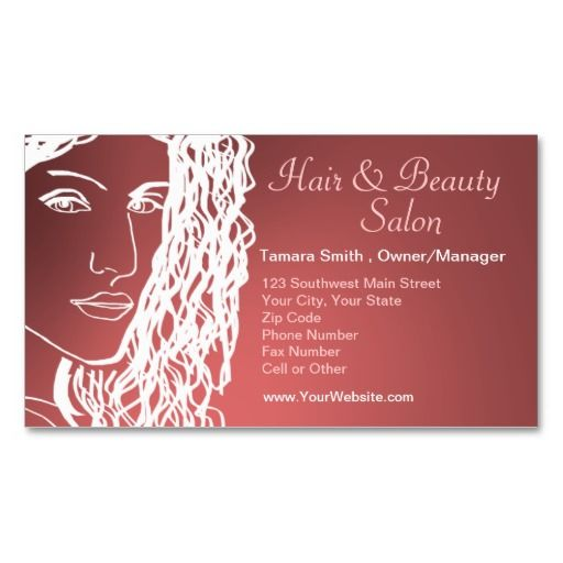 Hair & Beauty Salon Business Card Templates | My Art And Design ...