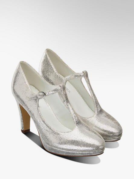 T Spangen Pumps Von Catwalk In Silber Deichmann Damen Schuhe Pumps Pumps Schuhe Damen