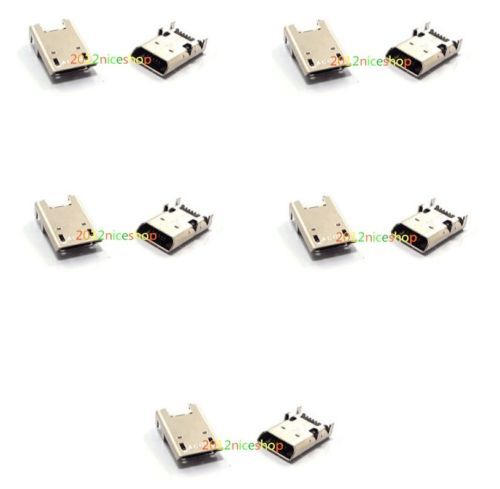 10x Micro Usb Charging Dc Socket Port Connector For Acer Iconia
